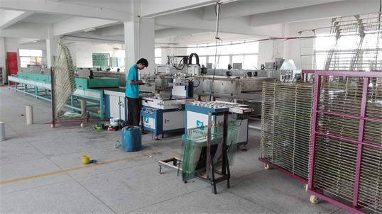 中山允光玻璃厂购买我司YS-6090T自动玻璃丝印机