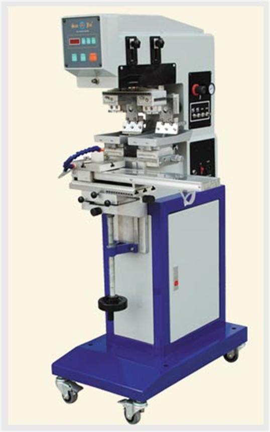 钢板100x100左右穿梭双色移印机
