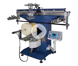 潮州350R-电动圆桶丝印机_丝网印刷机