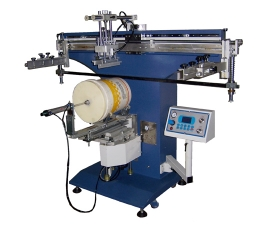 350R电动圆桶丝印机