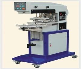 钢板100x100自动双印头单色移印机